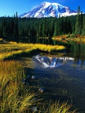 Mount Rainier and Reflection Lakes Photographic Print by Robert Marien