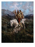 Visit to Another Tribe Giclee Print by Edgar Samuel Paxson