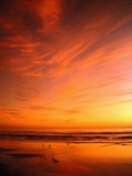 Southern California Sunset at Beach Fotografie-Druck von Mick Roessler