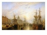 Customs House Quay, Dublin Giclee Print by Claude T. Stanfield Moore