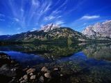 Jenny Lake Reflecting Teton Range Photographic Print by Gunter Marx