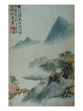View of a Misty Riverbank from an Album of Twelve Landscape Paintings Giclee Print by Tao Chi