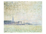 View of Vere Morning Fog Giclee Print by Theo van Rysselberghe