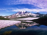Mount Rainier Reflected in Pond Photographic Print by Craig Tuttle