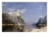 A Summer's Day on the Fjord Premium Giclee Print by Adelsteen Normann
