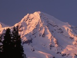Sunset on Mount Rainier Photographic Print by John McAnulty