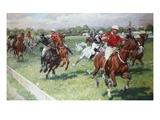 The Polo Game Premium Giclee Print by Ludwig Koch