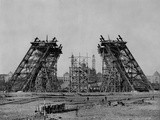 Eiffel Tower During Construction Photographic Print