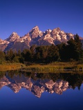 Mountains and Reflection in a Lake Photographic Print by Randy Wells