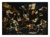 Imaginary Animals and Dwarfs Fighting, Drinking and Carousing Giclee Print by Faustino Bocchi