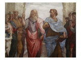 Detail of Plato and Aristotle from The School of Athens Lámina giclée por Raphael