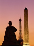 Obelisk of Luxor and Eiffel Tower Photographic Print by Marco Cristofori
