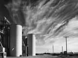 Grain Elevators with Clouds Photographic Print by Gordon Osmundson