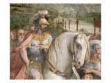 Detail Showing an Armored Man on Horseback from the Oath of the Horatii Giclee Print by Giuseppe Cesari