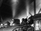 EBT 17 in Roundhouse from the Railroad Series Photographic Print by Gordon Osmundson