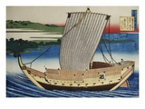 19th Century Woodblock Print of Japanese Warship by Katsushika Hokusai Giclee Print