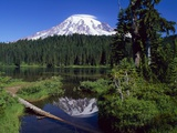 Mount Rainier and Reflection Lake Photographic Print by Terry Eggers