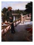 An Elegant Man on a Terrace Giclee Print by Henri Gervex