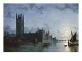 Westminster Abbey and the Houses of Parliament Giclee Print by Henry Pether