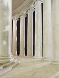 Columns Inside the Jefferson Memorial Photographic Print by William Manning