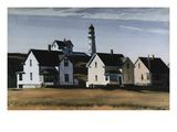 Lighthouse Hill, Cape Elizabeth, Maine Reproduction proc&#233;d&#233; gicl&#233;e par Edward Hopper