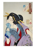 Looking in Pain: The Appearance of a Prostitute of the Kansei Era Premium Giclee Print by Taiso Yoshitoshi