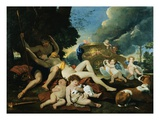 Venus and Adonis Lmina gicle por Nicolas Poussin