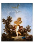 Love the Sentinel Giclee Print by Jean-Honoré Fragonard