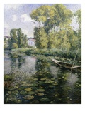 Fishing in a River in France Giclee Print by Frederick Charles Vipont Ede
