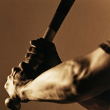 Bat in Batter's Hands Photographic Print by Patrik Giardino