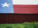 Texas Lone Star Design on Barn Roof Photographic Print by Richard Cummins
