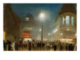 The Strand, London, at Theater Time Giclee Print by George Hyde-Pownall