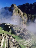 Misty View of Machu Picchu Photographic Print by Mark A. Johnson