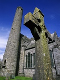 Celtic Cross Outside St. Canice's Cathedral Photographic Print by Richard Cummins