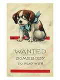 Wanted: Somebody to Play With Giclee Print
