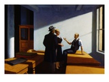 Conference at Night Gicle-tryk af Edward Hopper