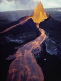 Kilauea Volcano Erupting Photographic Print by Jim Sugar