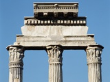 Ruins of the Temple of Castor and Pollux Photographic Print by Araldo Luca