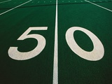 50-Yard Line of Football Field Photographic Print by Joseph Sohm