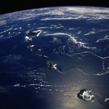 Hawaii From Space Photographic Print