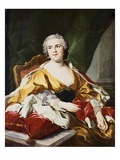 Portrait of Louise Elisabeth de Bourbon, Duchess of Parma Giclee Print by Louis-Michel van Loo