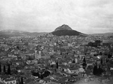 View Of Athens With Mt. Lycabitos Photographic Print