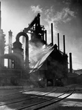 Blast Furnance at the Bethlehem Steel Works in Pennsylvania Photographic Print