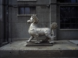 Animal Sculpture at Dashanzi Art District in Beijing Fotografie-Druck von Robert van der Hilst