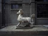 Animal Sculpture at Dashanzi Art District in Beijing Fotodruck von Robert van der Hilst