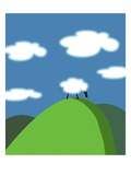 Sheep and Clouds Giclee Print by David Nicholls