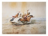 Indian Horse Race No. 4 Giclee Print by Charles Marion Russell