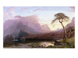 A View of Hornelen Fjord, Norway Premium Giclee Print by Charles Pettitt