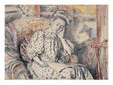Woman Resting on a Couch Reproduction proc&#233;d&#233; gicl&#233;e par Georges Lemmen