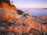 Bass Harbor Head Lighthouse at Sunset Photographic Print by George H.H. Huey